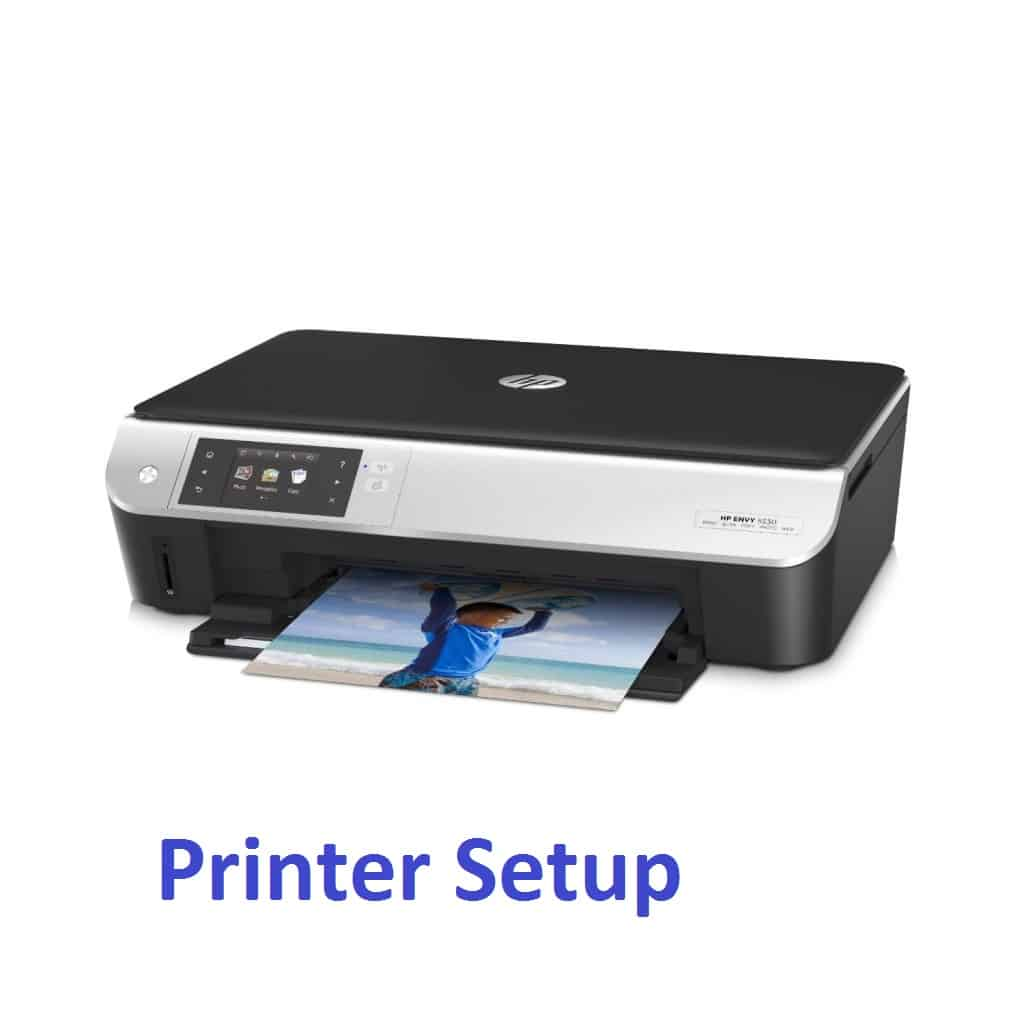 how to connect laptop to hp envy 5530 printer